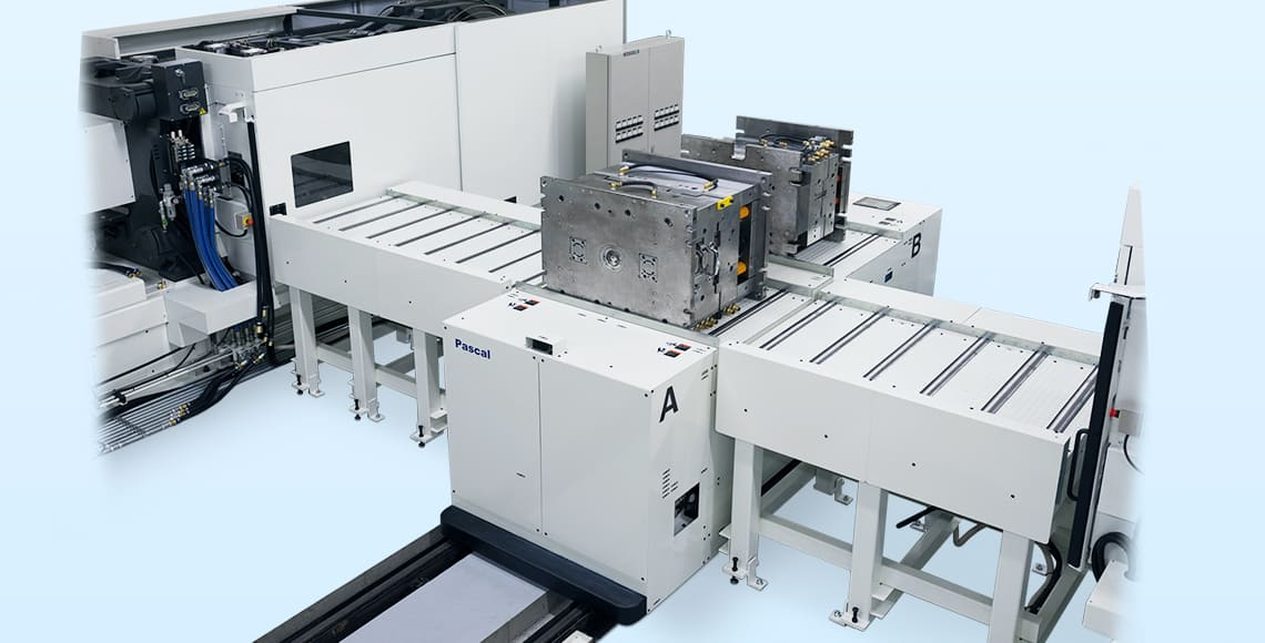 4500kN IMM  Molds 4ton × 2molds |Powered, On the rail, Drive rollers type|